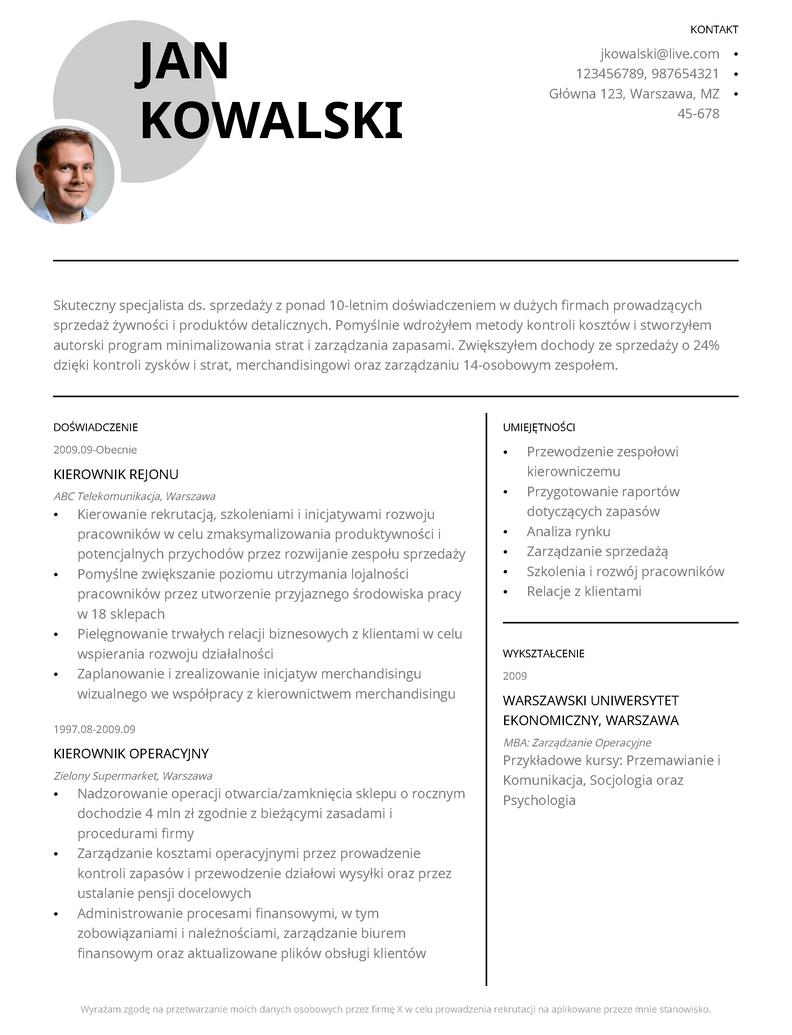 Kreatywne szablony CV