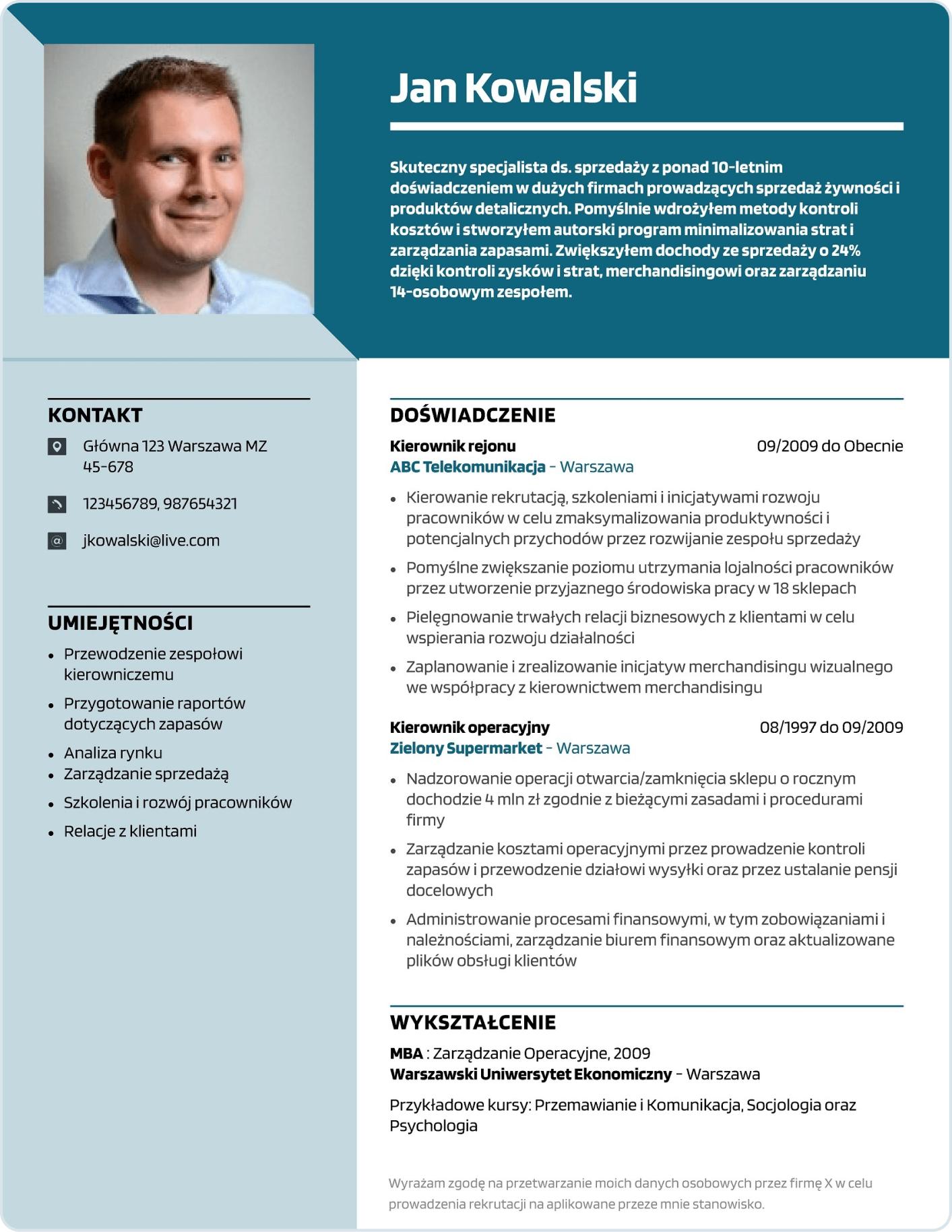 Szablon CV