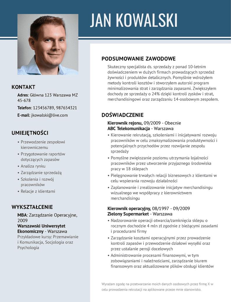 Nowoczesne szablony CV