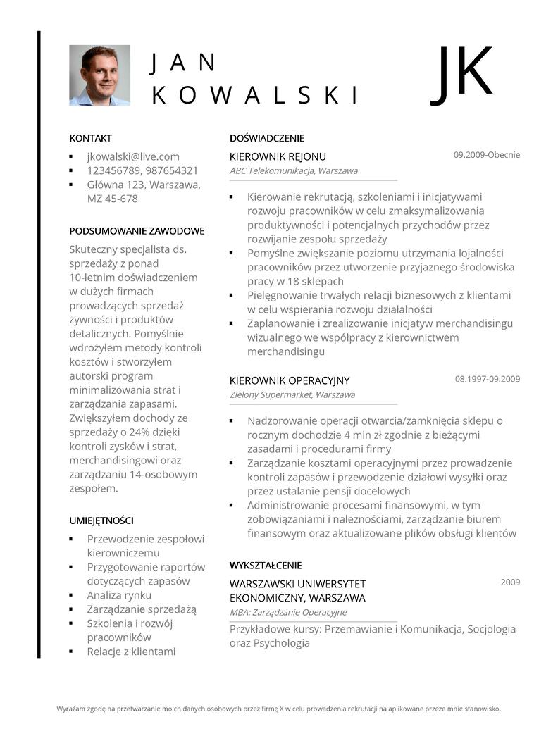 Profesjonalne szablony CV