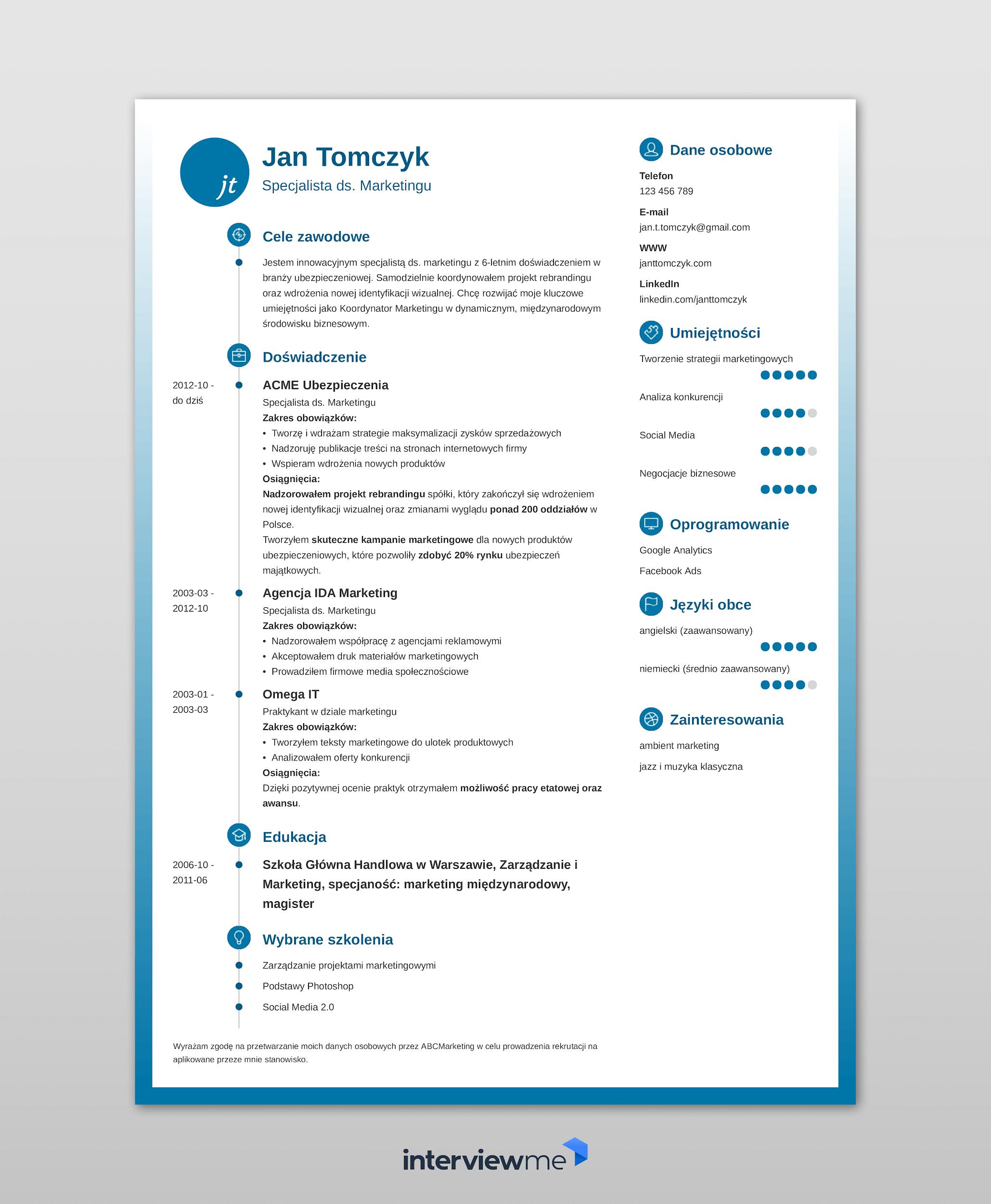 Wzór Do Wypełnienia Bez Zdjęcia W PDF I DOC Za Darmo