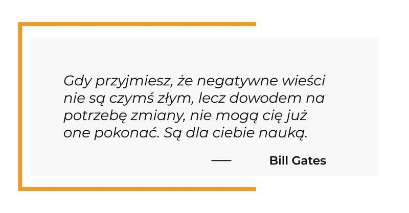 cytat motywacyjny - Bill Gates