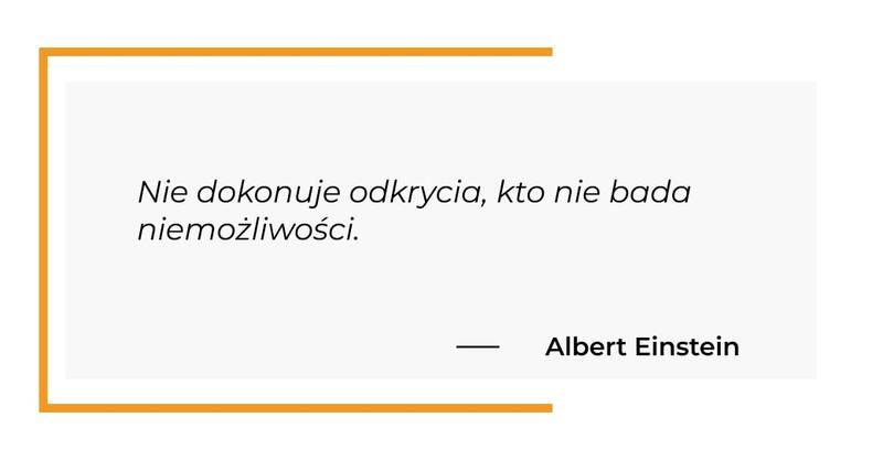 cytat motywacyjny - Albert Einstein