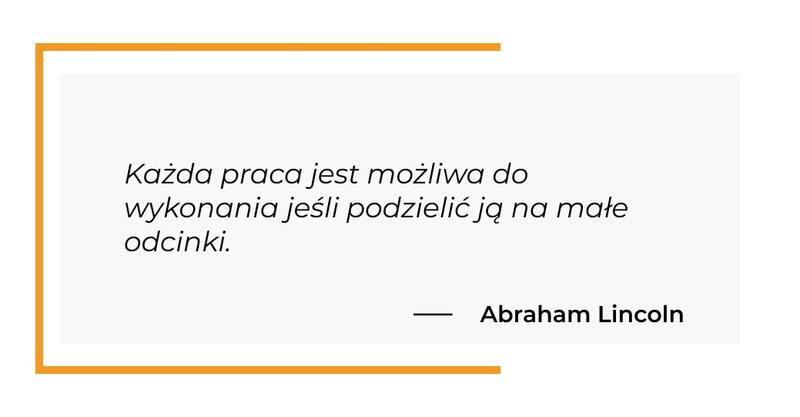 cytat motywacyjny - Abraham Lincoln