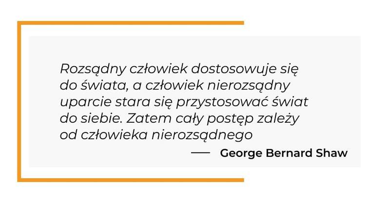 cytat motywacyjny - George Bernard Shaw