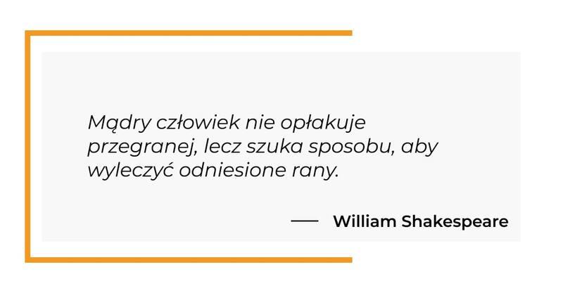 cytat motywacyjny - William Shakespeare