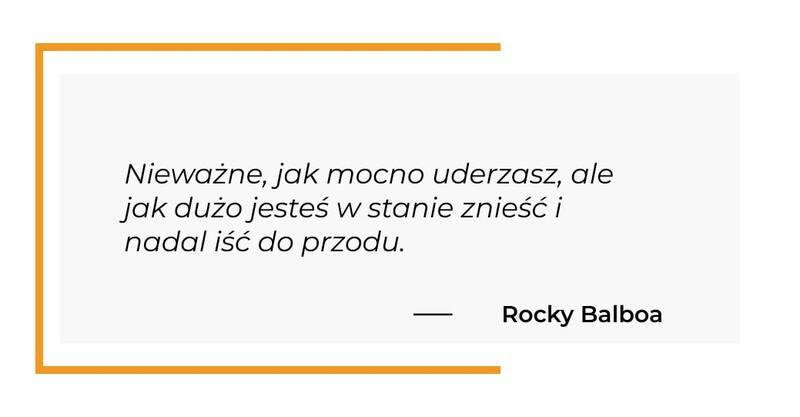 cytat motywacyjny - Rocky Balboa