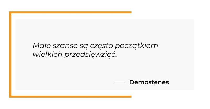 cytat motywacyjny - Demostenes