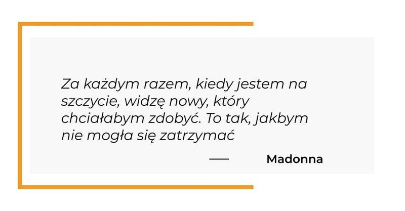 cytat motywacyjny - Madonna
