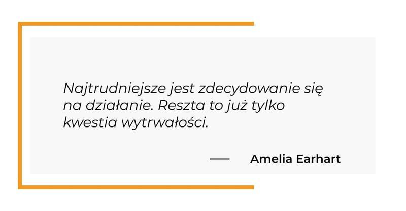 cytat motywacyjny - Amelia Earhart