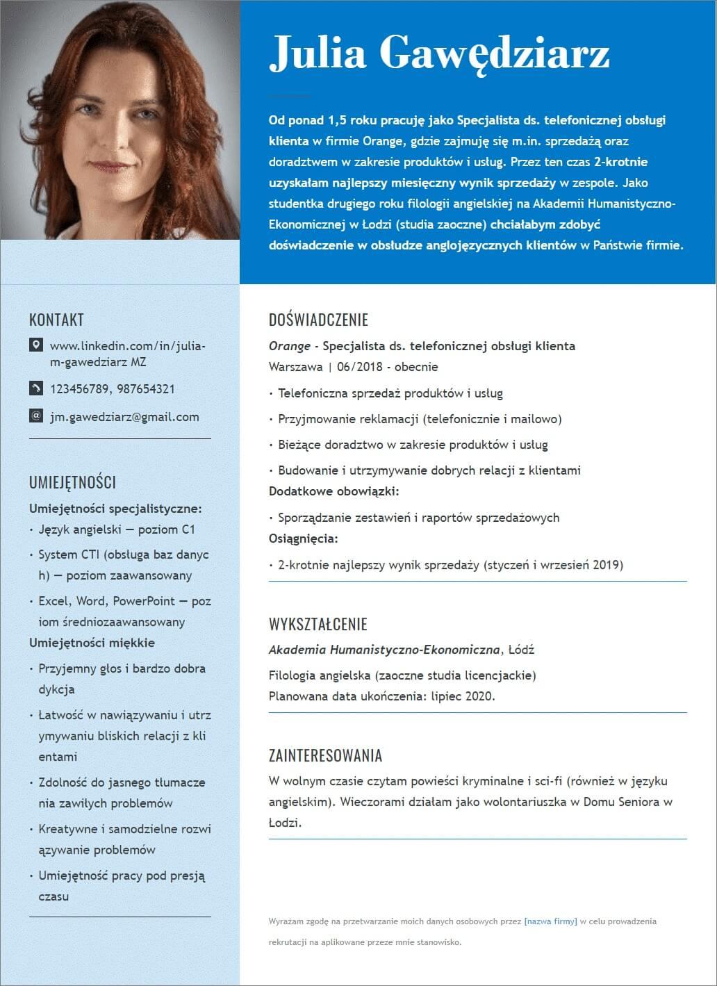 jak powinno wyglądać CV