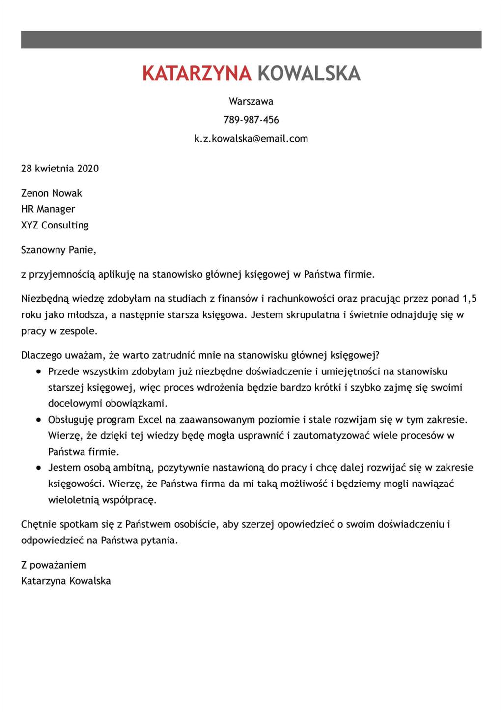 list motywacyjny przyklad pdf