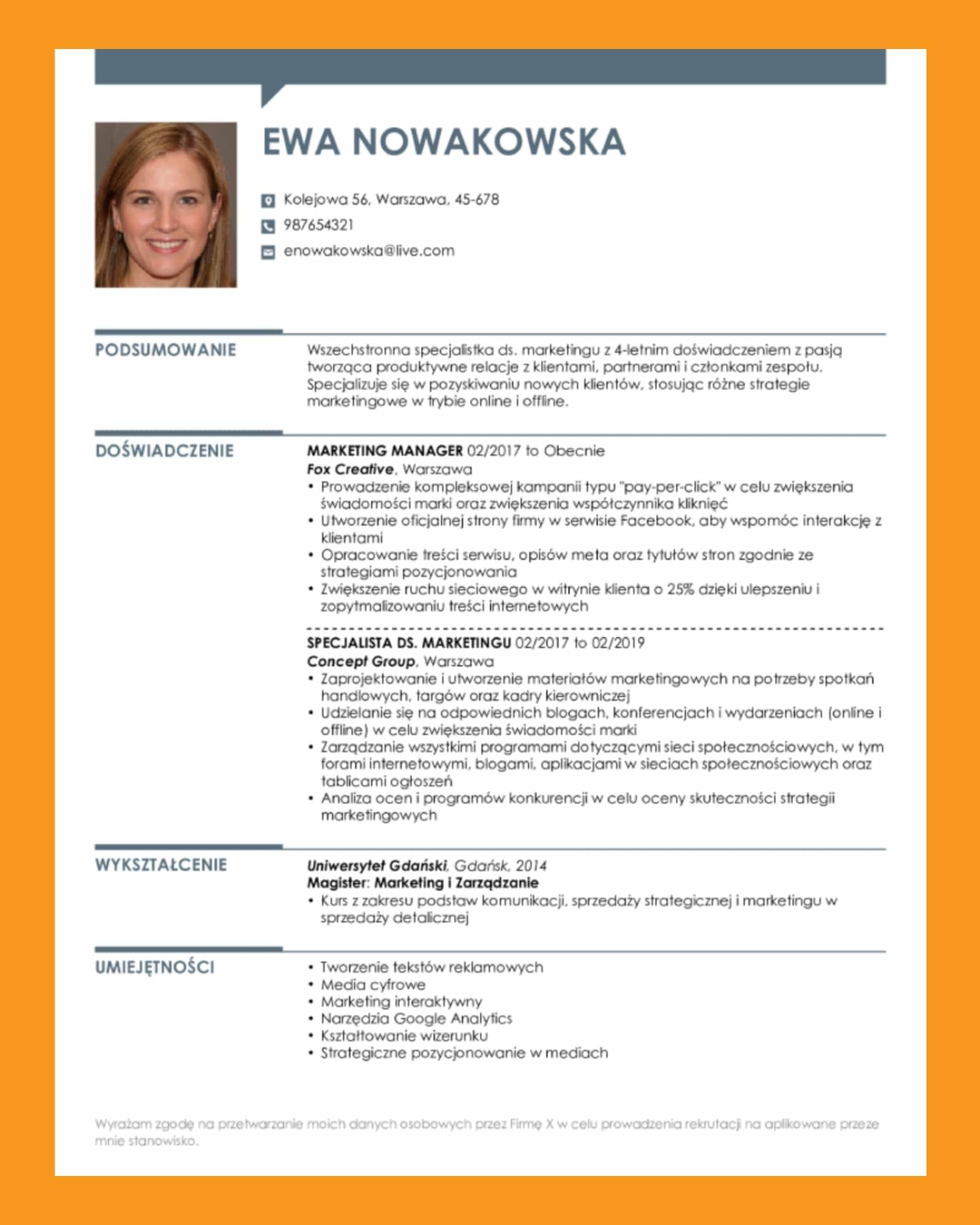 Puste CV Do Wypełnienia Za Darmo: Wzór Word I Szablony PDF